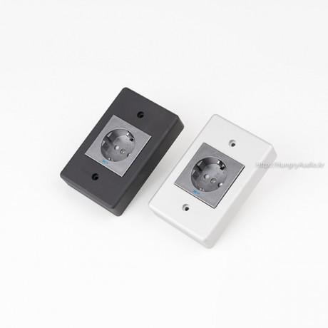 NCF 알루미늄 통절삭 1구 벽체콘센트 / FURUTECH / 자체제작벽체와 NCF 결합상품